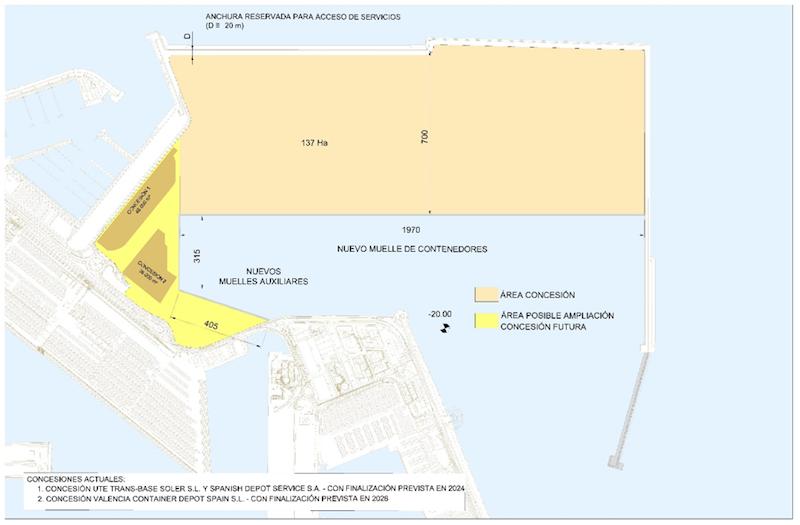 Terminal de Contenedores de la Ampliación Norte del Puerto de Valencia